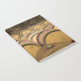 Oak Barrels In Wine Cellar Notebook