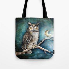 Moon Owl Tote Bag