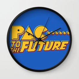 Pac to the Future Wall Clock