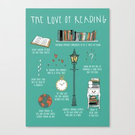 The Love of Reading Canvas Print