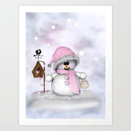 Snow child Art Print