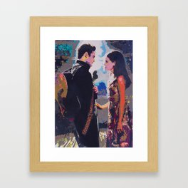 Johnny and June Framed Art Print