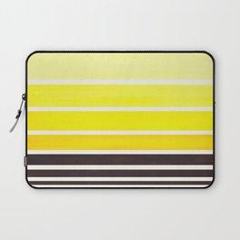 Yellow Minimalist Watercolor Mid Century Staggered Stripes Rothko Color Block Geometric Art Laptop Sleeve
