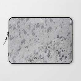 Silver Hide Print Metallic Laptop Sleeve