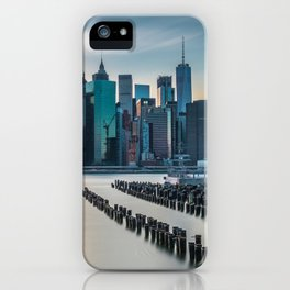 Sunset Over Manhattan, New York iPhone Case