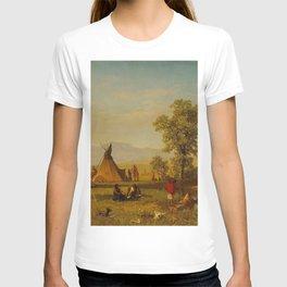 Albert Bierstadt - Sioux Village near Fort Laramie T-shirt