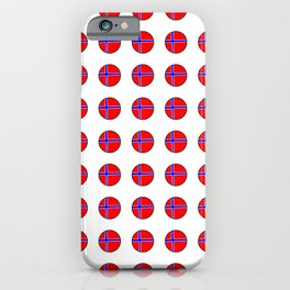 flag of norway 13 – polka dot version iPhone Case