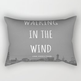 Walking In The Wind Rectangular Pillow