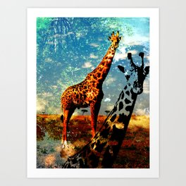 Giraffe's world Art Print