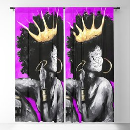 Naturally Queen VI PINK Blackout Curtain