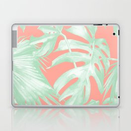 Island Love Coral Pink + Light Green Laptop & iPad Skin