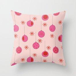 Christmas ornament pattern Throw Pillow