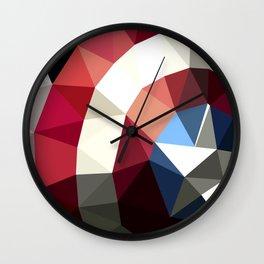 Polygon Heroes - Captain America Wall Clock