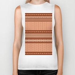 Ethnic African tribal brown and pink pattern Biker Tank