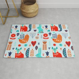 forest cute animals Rug
