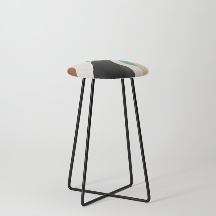Abstract Art 37 Counter Stool