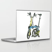 brompton Laptop & iPad Skins featuring My brompton standing up by Swasky