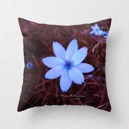 Shambhala Flower White 1a - Scrap Throw Pillow