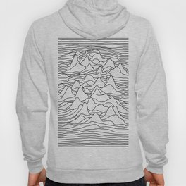 Black and white graphic - sound wave illustration Hoody