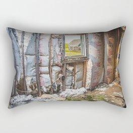 Attic, Yellow House, Arena, ND 1 Rectangular Pillow