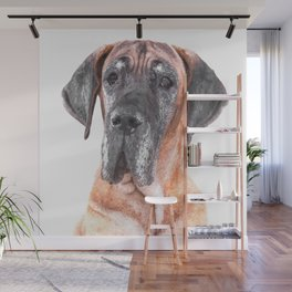 Great Dane Portrait Wall Mural