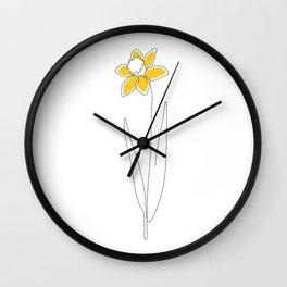 Mustard Daffodil Wall Clock