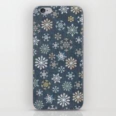 night time snow  iPhone & iPod Skin
