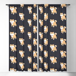 Formal Shiba Inu Blackout Curtain