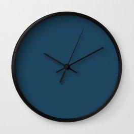 Shadow Play ~ Steel Blue Wall Clock