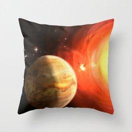 Planet Venus Throw Pillow