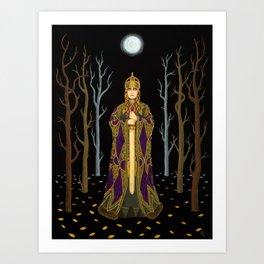 Kriemhild's Revenge (Lady with Sword) Art Print