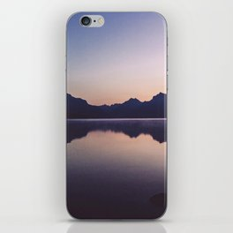 Sunrise over Glacier iPhone Skin