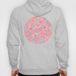 Moroccan Floral Lattice Arrangement in Pinks Hoody