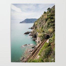 Railroad, Vernazza, Italy Poster