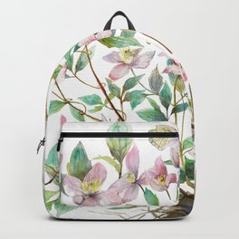 Clematis and Happiness in Marriage Symbol in a Nest Backpack