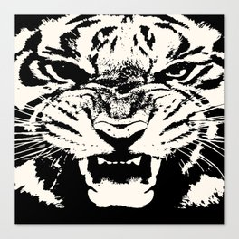 White Tiger Vector Canvas Print