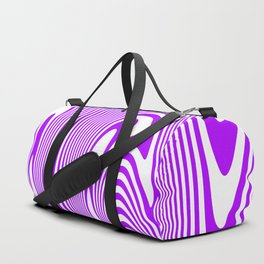 Purple Waves Duffle Bag
