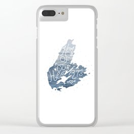 Home Of Our Hearts....Cape Breton Clear iPhone Case