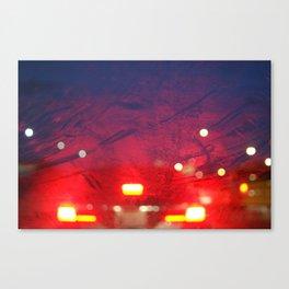 steamy car light bokeh Canvas Print