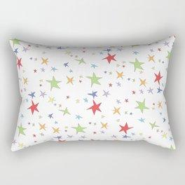 Rainbow Color Stars Rectangular Pillow