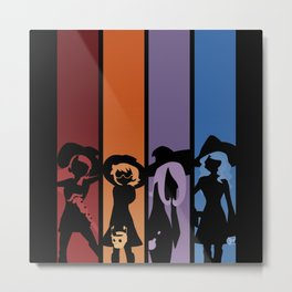 Silhouetted Witches Metal Print