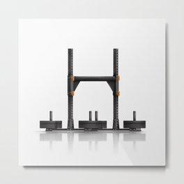 Crossfit Yoke Metal Print
