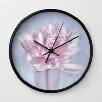 peony Wall Clocks featuring PEONY by VIAINA