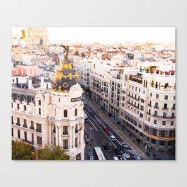 Madrid Gran Via Canvas Print