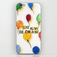 childish gambino iPhone & iPod Skins featuring STAY ALIVE BE CHILDISH I by Pio Timoko