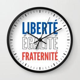 LIBERTÉ, ÉGALITÉ, FRATERNITÉ Wall Clock