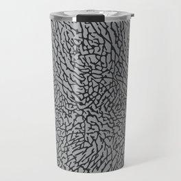 Elephant Print Texture - Grey Travel Mug
