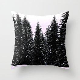 Pine Sunset Throw Pillow