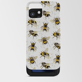 Fluffy Bumblebees (Pattern) iPhone Card Case