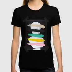 Untitled (Finger Paint 1) X-LARGE Black Womens Fitted Tee